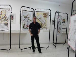 O cartunista e artista plástico Camilo Lucas