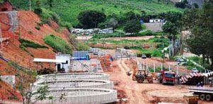 Obras na ETE continuam, porém, as obras paralisadas no Rio Caratinga não têm previsão para serem retomadas