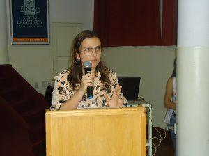 Coordenadora Cláudia Cardoso fez a abertura dos trabalhos