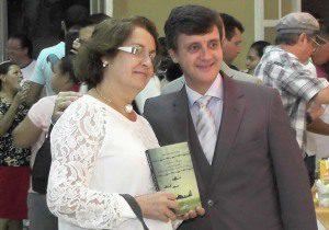 Dona Graça Portes, viúva do escritor Maxs Portes, foi uma das convidadas