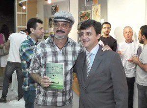 O cartunista Edra também prestigiou o lançamento do livro do professor José Geraldo Batista