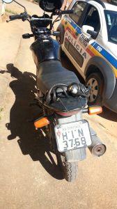 Moto usada pelos suspeitos