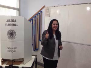No dia 5 de outubro, Rose de Freitas foi eleita senadora com 776.978 votos (foto: Facebook)