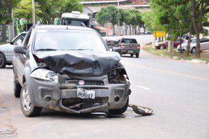 Devido a colisão, airbag do Strada chegou a ser acionado