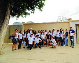 Alunos da Escola Estadual Reverendo Boanerges Almeida Leitão, do município de Vargem Alegre, participam do projeto
