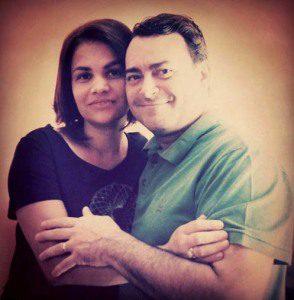 Sérgio e a esposa Andreiza