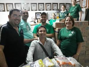 Orbianos felizes com o resultado da gincana onde vários donativos foram arreacadados