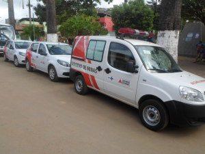 Novos veículos são usados para transportes de pacientes