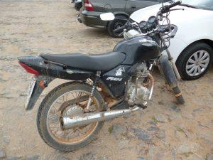 Ação da PM evitou que a moto fosse furtada