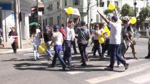 Alunos da Escola Estadual Princesa Isabel estiveram presentes na ação