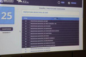 Painel mostra que a Prefeitura está entre as sorteadas
