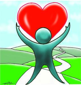 Charge As maes e aos professores, respeito, amor e louvores