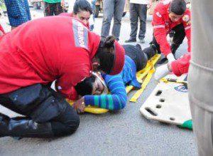 Maria Jaqueline apresentava suspeita de fratura no braço direito