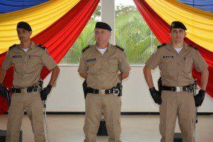 Tenente Chistófori, major Sérgio Renato e tenente Alonso