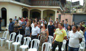 Representantes da sociedade de Inhapim foram assistir a posse do novo inspetor