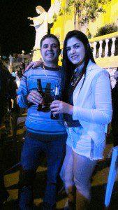Jaime e Fernanda...Ela aniversariou no sábado do bonjesuense ausente