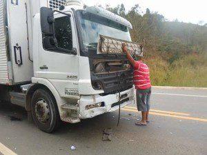 Motorista do caminhão ficou desolado