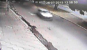 Câmeras instaladas nas proximidades mostram a passagem do Polo segundos antes do acidente
