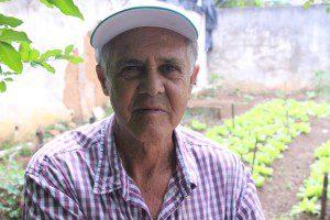 O cultivador da horta do Núcleo se orgulha em dizer que está curado e não tem medo da doença: 'Câncer não é bicho de sete cabeças'