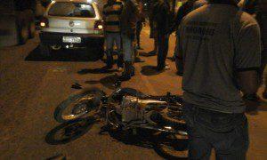 Acidente foi em frente a Delegacia de Polícia