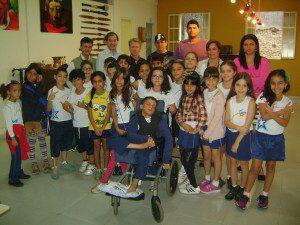 Atividades foram desenvolvidas a convite dos professores Cláudio Soares Barros e José Geraldo Batista e os alunos gostaram da iniciativa
