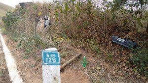 Acidente foi no km 128 da BR-474