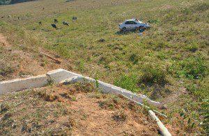 Veículo parou em uma pastagem (foto: Geraldo Fotógrafo/Ipanews)