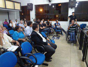 Presidente da Associação dos Deficientes Físicos de Caratinga, Genadir João de Oliveira faz desabafo em Plenário