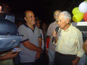 Senhor Waldemar agradeceu a promessa cumprida pela prefeitura