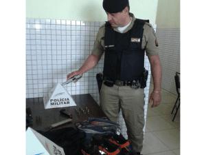 Pistola 380 usada pelos assaltantes