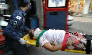 Vítima foi socorrida, mas não resistiu ao grave ferimento