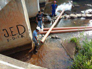 Funcionários estiveram na região do Córrego do Lage