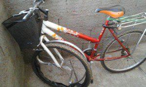 Bicicleta que era guiada pela vítima