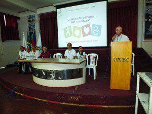 Professor Antônio Fonseca destacou a importância do evento como instrumento de integração entre os funcionários e prevenção de acidentes