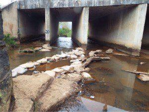 Situação no Córrego do Lage