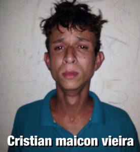 Cristian foi preso em flagrante pela PM