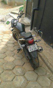 Moto tinha sido furtada na madrugada de ontem em Santana do Paraíso