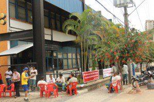 40% dos funcionários estão em greve em Caratinga