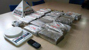 Droga encontrada na chácara (foto: Wellington Fred/Diário do Aço)