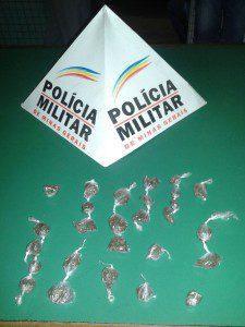 Droga apreendida durante a ação policial