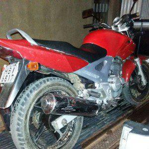 Moto recuperada pelos militares