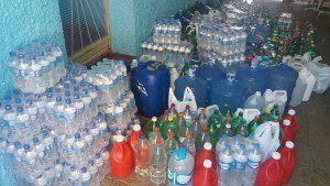 Litros de água arrecadados pela Escola Rios do Saber (Foto: Whatsapp)