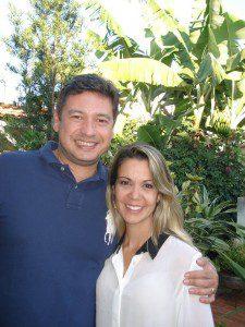 Nélio e esposa Ana Gabriela