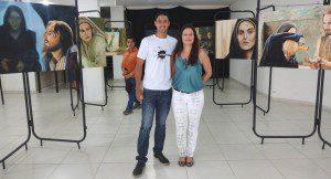 Xavier e a diretora de Cultura, Simone Santos