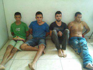 Foram presos Vinicius César, Wendel Rodrigues, Paulo Henrique, e Lucas Jefferson