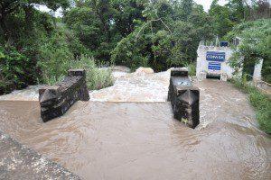 Registro do Córrego do Lage, na manhã de ontem. Vazão aumentou consideravelmente