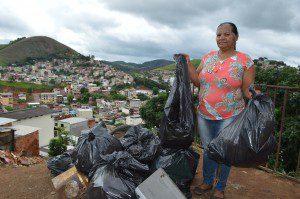 Irene Campos de Oliveira mobilizou a comunidade para a realização do mutirão de limpeza