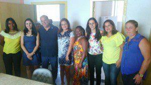 Novas conselheiras, junto do prefeito Hamilton Chagas (Bó), da secretária Luciana e da presidente do CMDCA Gilma Souza