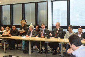 Reunião contou com participação de representantes de 40 sindicatos (Foto: Marcelo Sant'Anna/Imprensa MG)