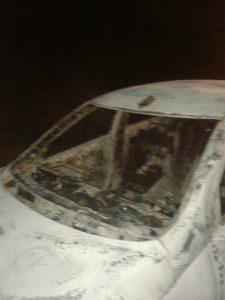 Veículo foi incendiado pelos bandidos
